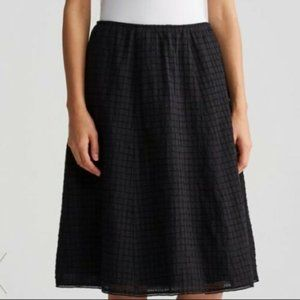 Eileen Fisher BNWT black Skirt Organic Cotton NEW
